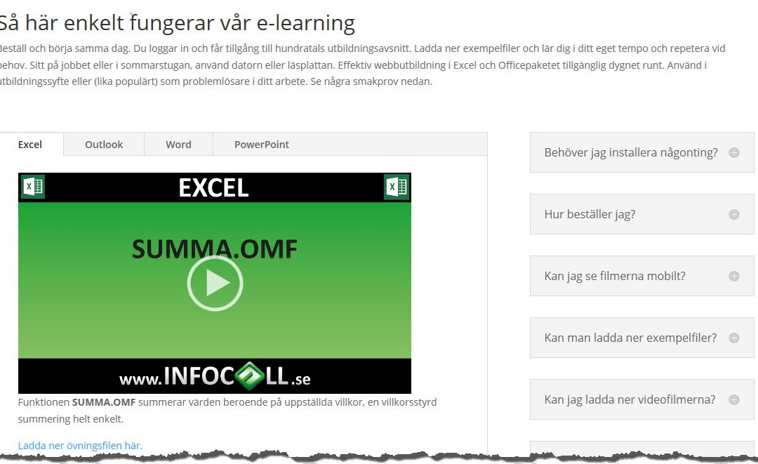 E-Learning i hela Office-paketet
